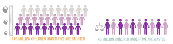 infographic on stunting and wasting