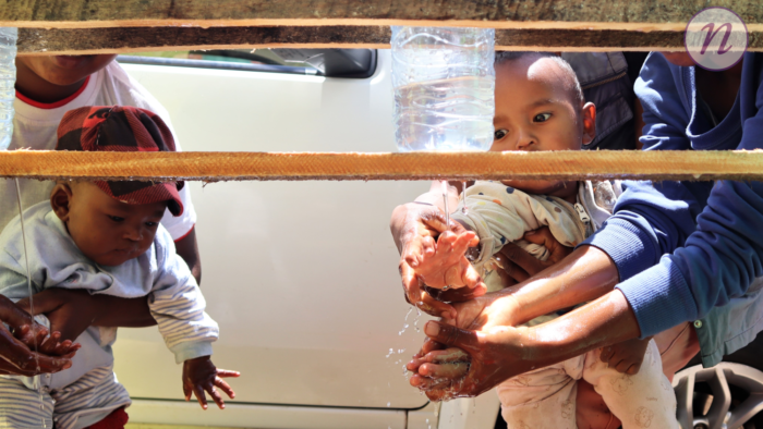 wash demonstration, Madagascar 2020